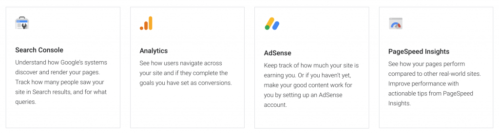 Google Site Kit Features