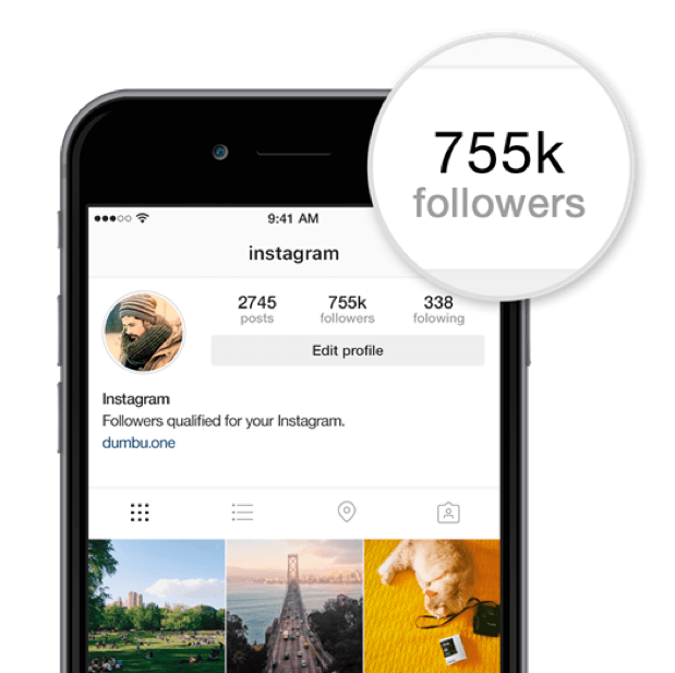 Instagram follower count