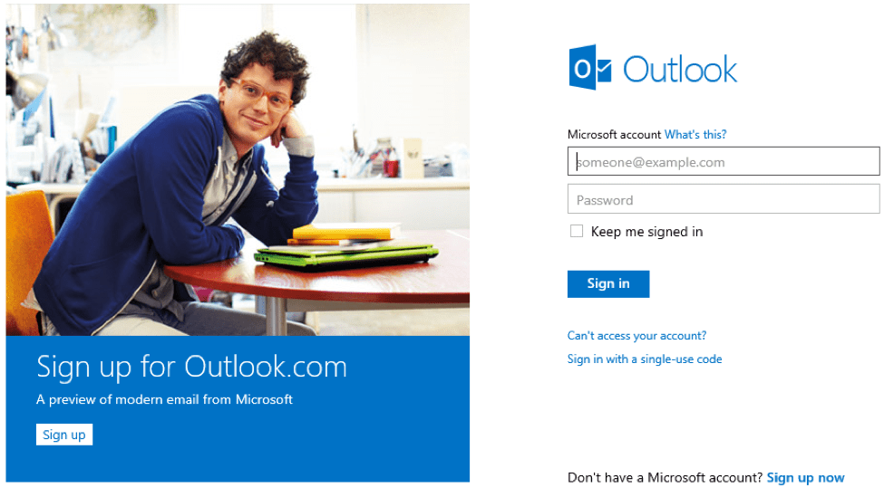 signup outlook