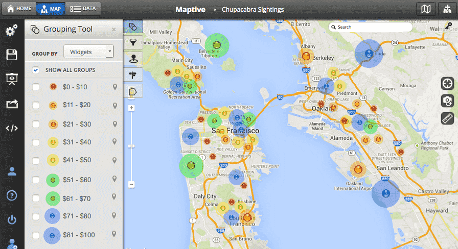 Maptive Review: Interactive Software for Attractive and Functional Maps