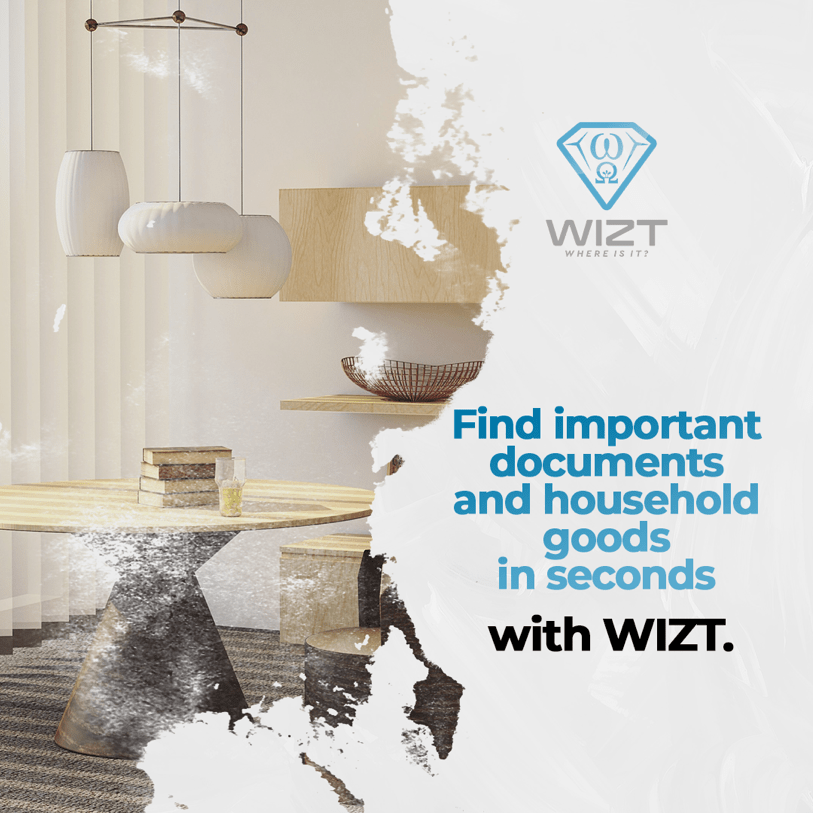 Find important documents and household goods in seconds with WIZT