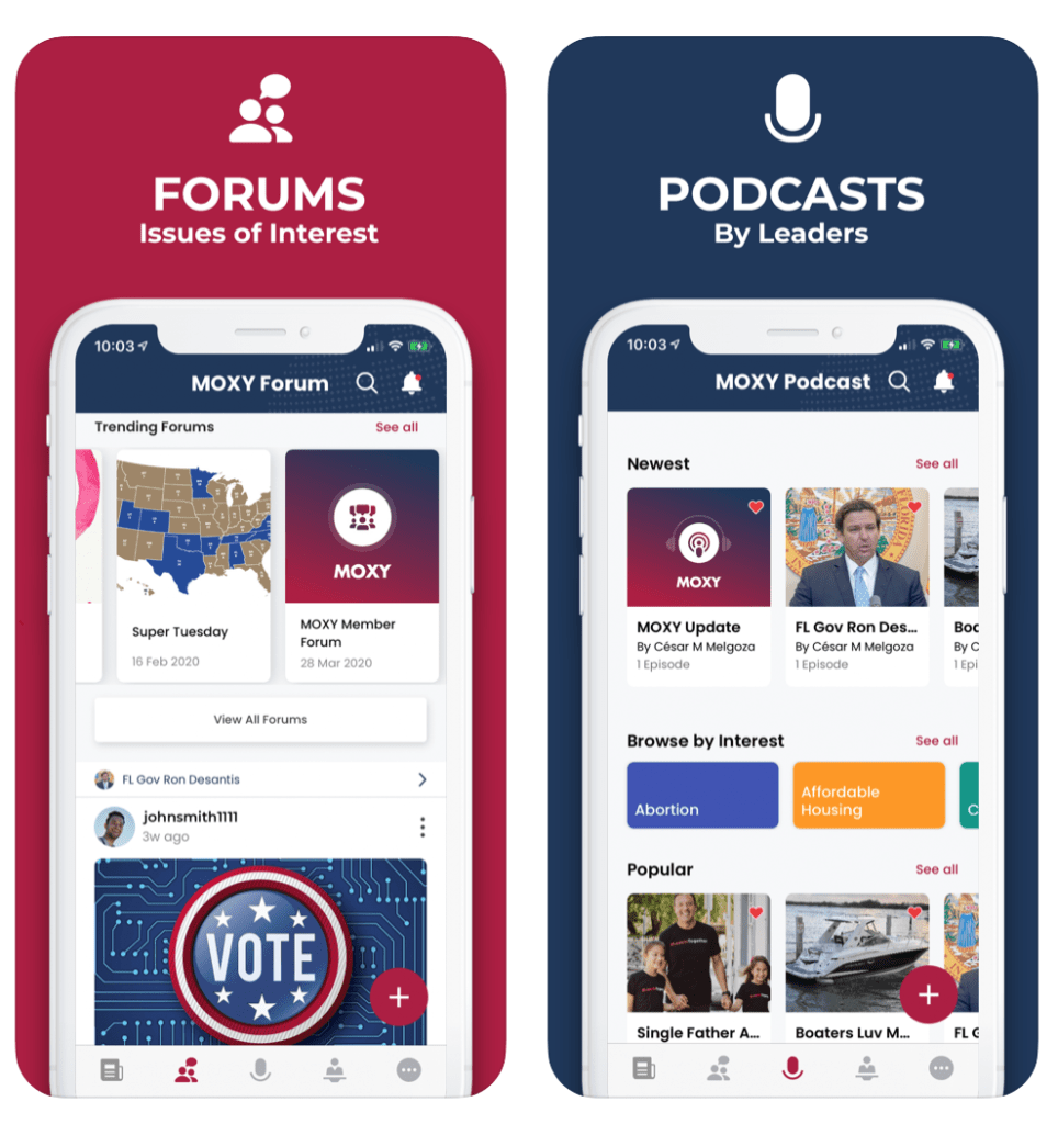 forum and podcasts on MOXY